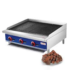 kitma commercial countertop lava rock charbroiler 36 inches natural gas char rock broiler with grill restaurant equipment for barbecue