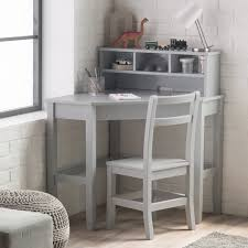 Classic Playtime Juvenile Corner Desk and Reversible Hutch with Chair -  Gray | Hayneedle
