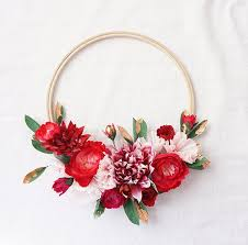 Diy Paper Flower Wreath Paper Flower Holiday Wreaths Wreaths Paper Flowers Wreaths