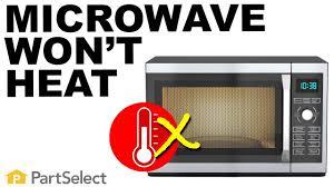 not heating microwave repair