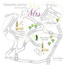Directions Template Wedding Map Template