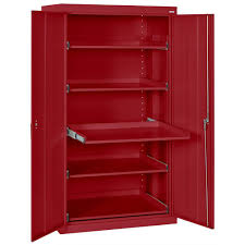 Heavy Duty Storage Cabinets Sandusky 66 In H X 36 In W X 24 In D Steel Heavy Duty Storage