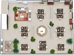 Office floor plan ideas Layout Design Office Layout With Informal Meeting Spaces Roomsketcher Office Ideas Roomsketcher