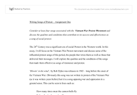 protest songs of the vietnam war university linguistics  document image preview