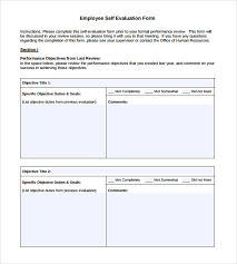 Simple Employee Review Free 7 Employee Self Evaluation Forms In Pdf