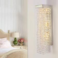 modern vertical crystal sconce upright crystal wal cheap bathroom lighting