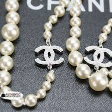 chanel pearl necklace. chanel - chanel 00v classic 35 inch graduated pearl necklace authentic bags for less