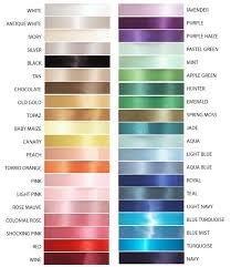 Satin Ribbon Color Charts China Satin Ribbon Color Charts
