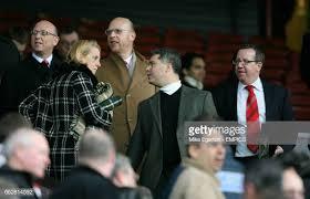 Manchester United's board members Joel Glazer , Avi Glazer and Bryan...  News Photo - Getty Images