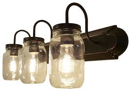 country bathroom lights. Mason Jar Bathroom Light Clear Quart Vanity Farmhouse Country Lights
