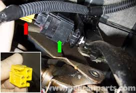 volvo v70 brake light switch replacement 1998 2007 pelican once the electrical connector red arrow is removed by pulling it straight out