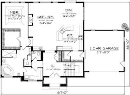 3 Bedroom Open Floor House Plans Unique Decorating