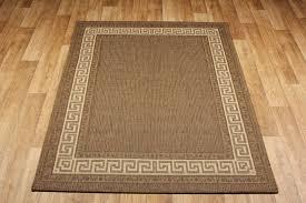 details about brown beige kitchen utility runner rugs sisal like greek key flatweave anti slip