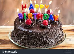 happy birthday chocolate cake with candles. Happy Birthday Candles On Chocolate Cake For With Shutterstock