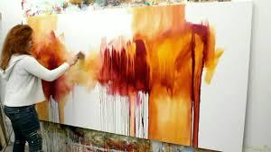 abstract acrylic painting demo abstrakte malerei flüsterzeit by zacher finet you