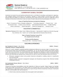 Resume Samples Teacher Elementary School Teacher Resume Template ...