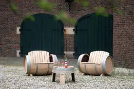 wine barrel outdoor furniture. Wine Barrel Outdoor Furniture This Handcrafted From Old Barrels Is A Wonderful Addition . R