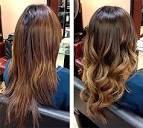 Омбре черных волос фото до и после