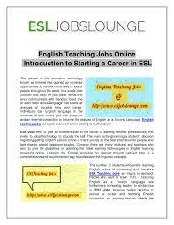 Ppt English Teaching Jobs Online Powerpoint Presentation