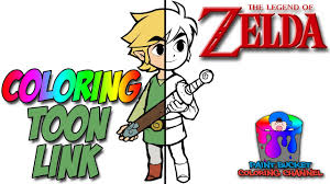 toon link coloring pages. Simple Coloring How To Color Toon Link  Nintendo The Legend Of Zelda Coloring Page  YouTube With Pages O