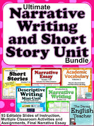 best reflective narrative writing prompts images narrative writing and short story unit
