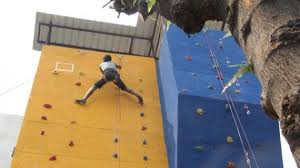 participants busy in climbing at the opening of artificial rock climbing wall in indian institute of on artificial rock climbing wall in pune with artificial rock climbing wall inaugurated in guwahati