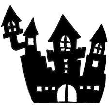 洋風の城のシルエット フリーイラスト素材のぴくらいく商用利用可能です