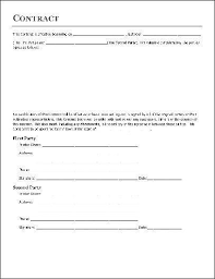 Simple Contractor Agreement Template Simple Contractor Agreement Template Contract Agreement
