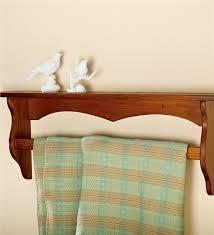 Hanging Pine Quilt Rack Shelf | Decorative Accents & Main image for Hanging Pine Quilt Rack Shelf Adamdwight.com