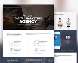 Psd Website Templates Free High Quality Designs Free Digital Marketing Agency Website Template Free Psd At