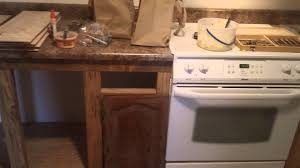 Home Made Kitchen Cabinets Home Made Kitchen Cabinets Remodeling A Double Wide Youtube