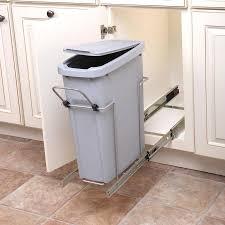 Knape & Vogt 20-Quart Plastic Pull Out Trash Can