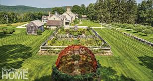 the farm s handsome masonry executed by steve saharek helps merge the garden with the stone farmhouse while fostering an old time look