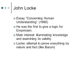 John Locke Essay Concerning Human Understanding Notes College Paper