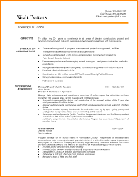 Cover Letter Examples Of Construction Resumes Objective For