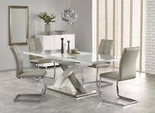 sandor 2 160 220cm grey gl white high gloss modern extendable dining table