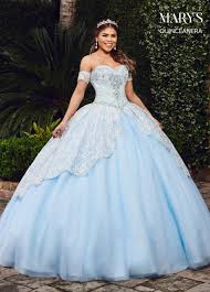 Light Blue Quince Dress Lareina Quinceanera Dresses Style Mq2075 In Baby Blue Or