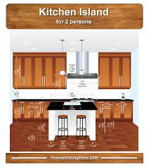 kitchen island dimensions for 2 seat island