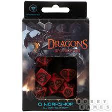 Набор кубиков Dragons, 7 шт., <b>Red</b>/Black | Купить настольную ...