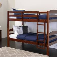 twin over twin wood bunk bed espresso multiple colors available com