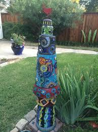 flower pot mosaic totem