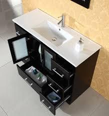 Virtu Zola 48 inch Modern Bathroom Vanity Solid Oak Wood Construction