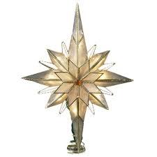 Amazon.com: Kurt Adler 10-Light 10-Inch Capiz Classical Multi-Pointed  Bethlehem Star Treetop: Home & Kitchen