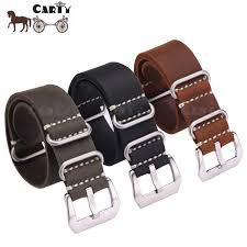 20 22 24mm handmade men zulu leather g10 nato militaty watch strap band stainless steel buckle comfortable black brown green watch straps