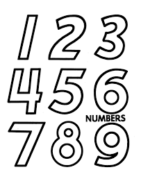 number templates 1 10 drawing numbers template clipartxtras