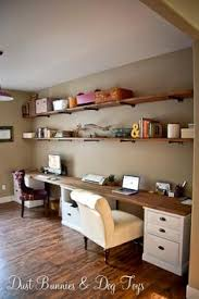 building office desk. Nice DIY Counter/desk, Made With A Long Slab Of Wood, And Some Building Office Desk