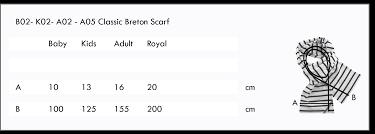 Striped Scarf Royal Bretonstripe