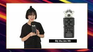 Máy thu âm ghi âm cầm tay chuyên nghiệp tiện dụng Handy recorder H6 -  YouTube