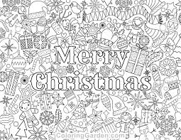 Small Picture Christmas Adult Coloring Page