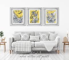 image is loading set of 3 yellow ochre mustard nature wall  on yellow wall art ebay with set of 3 yellow ochre mustard nature wall art prints yellow wall